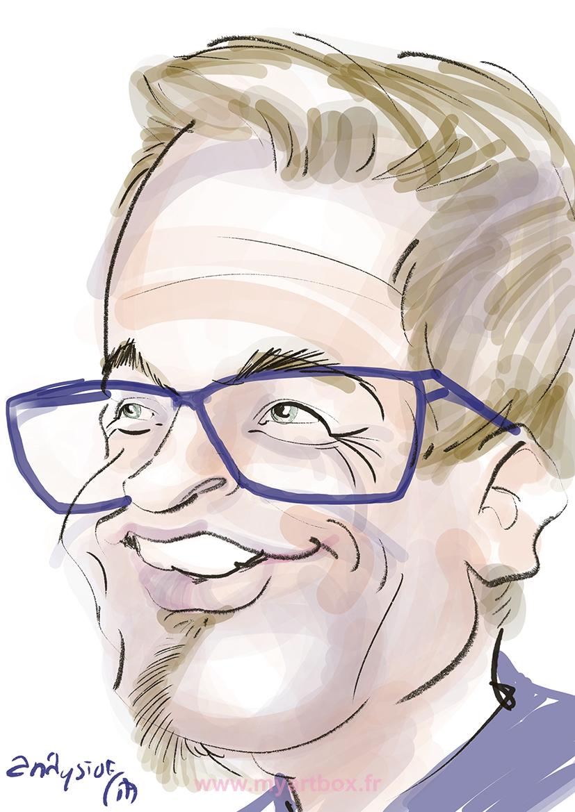 Caricaturiste digital gene ve