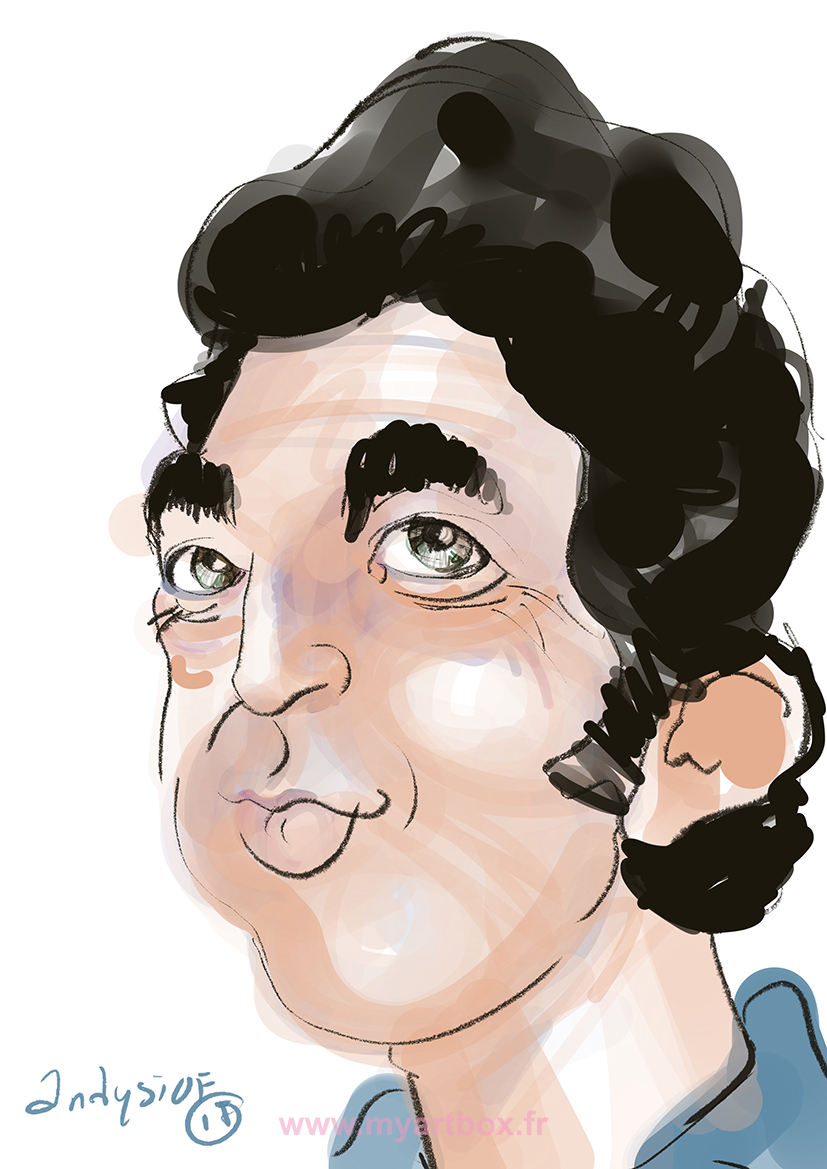 Caricature digitale lyon